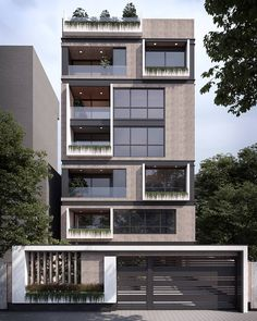 Modern facade design in Tehran Architecture Building Design, Facade Design, Exterior Design, Modern Residential Architecture, Pavilion Architecture, Building Facade, Japanese Architecture, Sustainable Architecture, Green Building