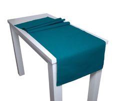 beties Farbenspiel Tischläufer ca. 40x150 cm in interessanter Größen- und Farbauswahl 100% Baumwolle hochwertig & angenehm Uni Farbe (petrol)