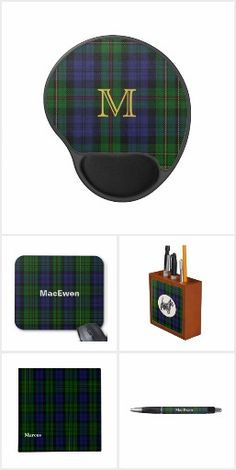 MacEwen Clan Plaid Desk Top Products