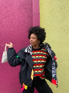 Retro Jackets, Neon, Puffer Jackets, Zebra Print, Christmas Sweaters, Vintage Outfits, Windbreaker, Zipper, Coat