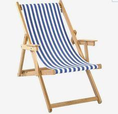 MONOQI | Beach Chair - White/Blue