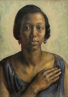 Pearl Johnson, 1927 by  British artist Laura Knight