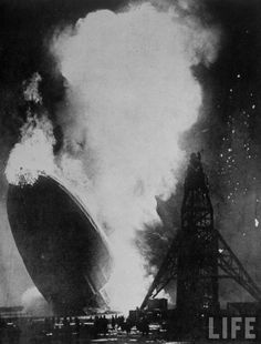 The Hindenburg disaster took place on Thursday, May 6, 1937, as the German passenger airship LZ 129 Hindenburg caught fire & was destroyed during its attempt to dock with its mooring mast at the Lakehurst Naval Air Station, which is located adjacent to the borough of Lakehurst, New Jersey. Of the 97 people on board (36 passengers, 61 crew), there were 35 fatalities, including one death among the ground crew.  Amazing photo!