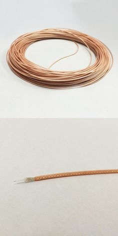 [Visit to Buy] 1Meter RG178 RF Coaxial Cable Army Standard Silver Feeder High Temperature Teflon Brown Transparent OD1.8 Wire #Advertisement