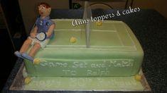 Tennis theme cake