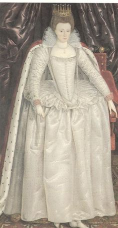 Elizabeth (Vernon) Wriothesley, Countess of Southampton.  See another version, same board.