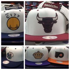 Cream neutral velcro backs from Mitchell and Ness. One of the newest additions to land at Town East and Grapevine Mills. #mitchellandness   #nba   #nhl   #velcro   #snapback