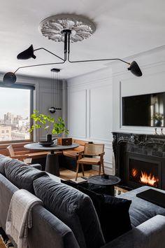 One Bedroom Apartment, Apartment Design, Apartment Ideas, Apartamento New York, Upper West Side Apartment, Manhattan Apartment, York Apartment, Manhattan City, Stockholm Apartment