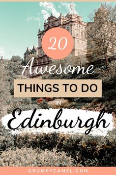 Visiting Edinburgh, Scotland? Check out these awesome things to do in Edinburgh, including recommended food tours, ghost tours, festivals and attractions like Edinburgh Castle, Camera Obscura and the Writers' Museum.  #Edinburgh #EdinburghTravel #Scotland #ScotlandTravel #Europe #EuropeTravel