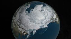 Arctic sea ice appears to have reached a record low wintertime maximum extent for the second year in a row, according to scientists at the NASA-supported National Snow and Ice Data Center (NSIDC) and NASA. Polo Norte, France 24, Arctic Ice, Sea Ice, Snow And Ice, North Pole, Antarctica, Winter Time, Winter 2017