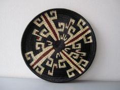 plato en werregue artesanía en werregue werregue,tintas naturales tejido