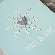 Peace & Love 2 by Lucy Abrams Christmas Cards To Make, Peace And Love, Card Making, Xmas, Handmade Cards, Paper, Stamping, Holiday, Card Ideas