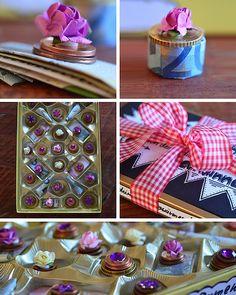 Geldgeschenke kreativ verpacken: Pralinenschachtel