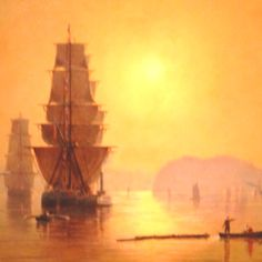 Smoky Sunrise, Astoria Harbor, 1882 by Cleveland Rockwell (1837-1907)