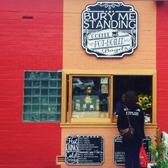 Bury Me Standing. Great coffee and bagels and an interesting hole in the wall location. Hobart. Image credit: @drunkenadmiral