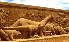 Dinos Sand Sculpture