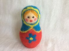 Needle felted Russian Doll felting Russian Doll by Felt4Soul #hepteam