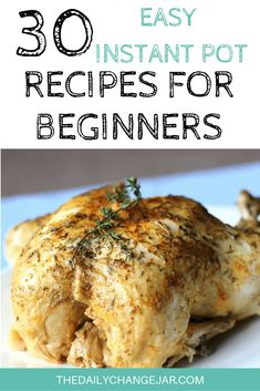 30 Easy Instant Pot Recipes for Beginners - The Daily Change Jar - - If you are considering (or have already bought) a pressure cooker, here are some Instant Pot recipes for beginners to get you started cooking like a pro. Recipes For Beginners, New Recipes, Cooking Recipes, Favorite Recipes, Frugal Recipes, Instant Pot Pressure Cooker, Pressure Cooker Recipes, Pressure Cooking, Pressure Pot
