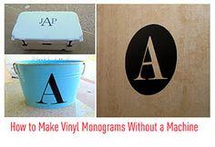 Making vinyl letters without a cricut