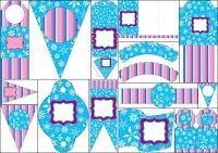 Frozen Purple and Light Blue: Free Party Printables.