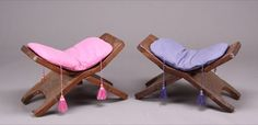 Marilyn Monroe's folding chairs. I just love the colors and tassels.