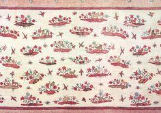 Palampore | Coromandel Coast, India / 1740-1750 / Painted and dyed cotton chintz