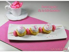 Recette Dessert : Brochette de choux à la fraise tagada par LaDinetteDeNelly