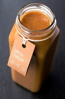 homemade raw date syrup - use in place of refined sugar, honey, maple syrup etc.