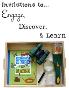 Love these Invitations to Engage, Explore, and Learn