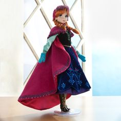 Our new Limited Edition Anna Doll. Available to pre-order starting January 10, online and in select stores. Limited Edition of 5,000. #DisneyFrozen anna doll, disney store, disney princesses, disney anna, winter outfit, limited edition disney dolls, frozen, edit anna, limit edit