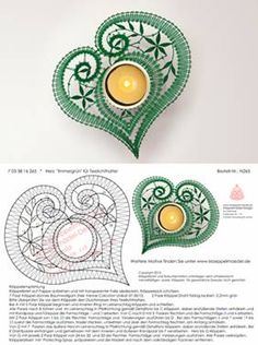 Klöppeln, Klöppelbrief, Erzgebirge, Annaberg-Buchholz, Volkskunst, Klöppelmädel Design Irish Crochet, Crochet Lace, Tatting, Bobbin Lacemaking, Bobbin Lace Patterns, Machine Embroidery Projects, Lace Heart, Point Lace, Lace Jewelry