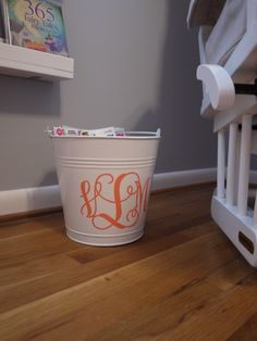 Project Nursery - Personalized bucket
