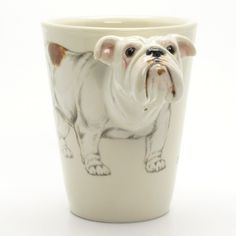 Bulldog Dog Mug 00004 Ceramic Handmade Collectible Dog Lover Gifts | madamepomm - Pets on ArtFire