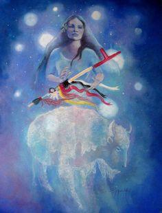 White buffalo woman from Pleiades