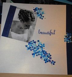 gorgeous scrapbook page for wedding