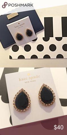 ✨New✨Kate Spade Navy & Gold Diamond Stud Earrings✨ ✨Kate Spade Navy & Gold Diamond Stud Earrings✨ NWT ✨ Comes With Dust Bag & Box✨ kate spade Jewelry Earrings