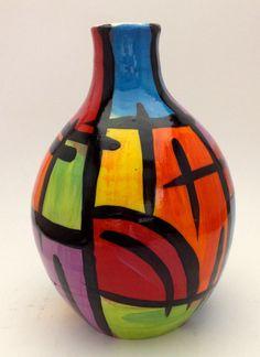 Heather McCoy Gourd Art, Pottery Ideas, Handmade Pottery, Gourds, Ceramic Art, Pots, Garden Ideas, Hand Painted, Creative