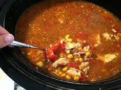 Spicy chicken taco soup