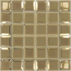 """Turkish Draughts Brown 2"""" x 2"""" Glossy & Frosted Glass Mirror Tile Mirror Tiles, Wall Tiles, Perfect Glass, Tiles Online, Tile Projects, Tile Installation, Frosted Glass, Backsplash, Brown"""