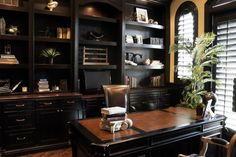 office-decor-home-decor-dark-wood-traditional-home-office-lisa-escobar-design-30874.jpg (640×426)