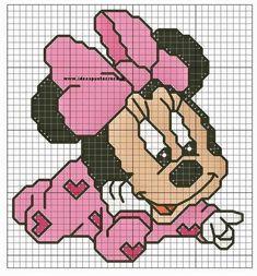 Grande raccolta personaggi Disney a punto croce
