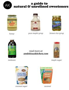 Guide to 8 Natural Unrefined Sweeteners.