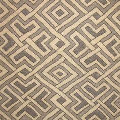"Stark Fabric - Grey Watkins ""Kenya GW"" Grey ||||| this is nice b/c it has the look of an African Kuba Cloth :)  -db."