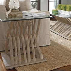 Coastal Living Resort-Driftwood Flats End Table in Weathered Pier - 062-75-14