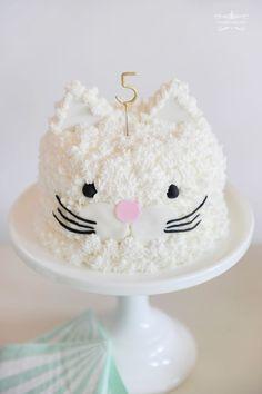 Kitty Kat Birthday Cake ~ the Happy Wish Company | photo Tammy Hughes