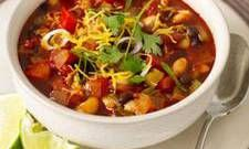 Homemade Veggie Chili: Cup $3.59, Bowl$4.59, Add beef for $1.99