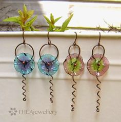 The Beading Gem's Journal: Simple Wire Work Flower Earrings Tutorial