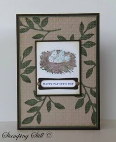 Nature's Nest Father's Eggs by mum of 2+2 - Cards and Paper Crafts at Splitcoaststampers