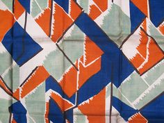 'Maud' fabric designed by Vanessa Bell Motifs Textiles, Vintage Textiles, Textile Patterns, Textile Design, Color Patterns, Fabric Design, Geometric Patterns, Vanessa Bell, Bloomsbury Group