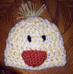 Baby's First Easter Hat Newborn Easter Crochet Chick Hat (0-3 mos)